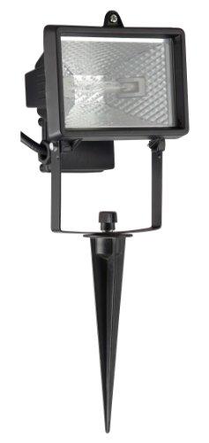 Brilliant G96159/06 Lampe Extérieur à Piquer 150 W R7s Noire Tanko