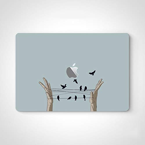 Vinyl Laptop Skin Both Hands Play Spiderlike There Mac Laptop Decal Stickers for MacBook Air 13' Pro 13'/15'/16' 2008-2020 Version Laptop Keyboard Decal Sticker