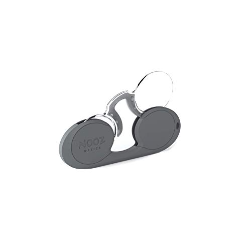 Nooz - Bügellose Lesebrille Unisex - Grau +2 Oval - Immer griffbereit