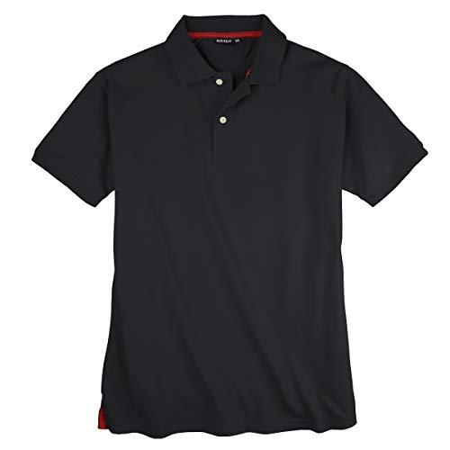 Redfield Basic Stretch-Poloshirt Übergröße schwarz, Größe:5XL
