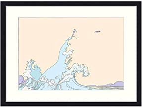 Onda Waves Sea Flight Moebius Fantastische abstrakte Bilder Moderner gerahmter Kunstdruck für Wohnzimmer Schlafzimmer Büro Wanddekoration für Geschenke