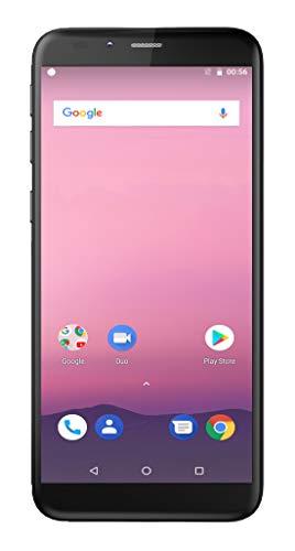 Teléfono Móvil Inteligente DENVER SDQ-57004L Negro. Pantalla 5.7'. Quad Core. 4G. Android 8.1. Memoria: 16GB & 2 GB RAM, Dual SIM. Cámara de 13 y 5 MPixel.