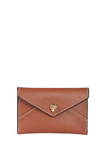 Alexander McQueen Luxury Fashion Donna 5541941BU0G2002 Marrone Portacarte | Autunno Inverno 19