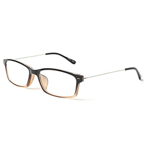 MIDI-ミディ 老眼鏡 UVカット 知的でスッキリデザインの極細テンプル リーディンググラス メンズ グラディエントブラウン 度数+2.50 (m315,c2,+2.50)