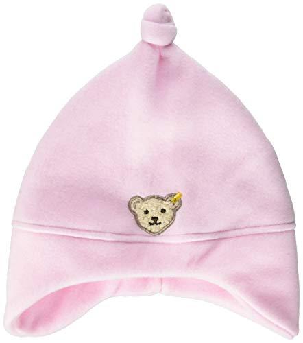 Steiff Steiff Unisex - Baby Mütze 0006865, Einfarbig, Rosa (Barely Pink 2560), Small (Herstellergröße: 43)