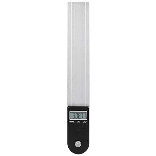 Regla de ángulo de visualización digital -2 en 1 transportador digital precisa aleación de aluminio magnética regla de ángulo de medición 12 pulgadas