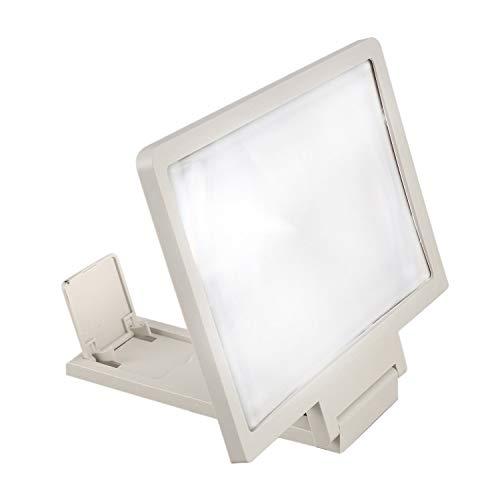 Ctzrzyt 3D Mobile Pantalla del Telefono Lupa Amplificador de Video HD para Telefonos Inteligentes Blanco