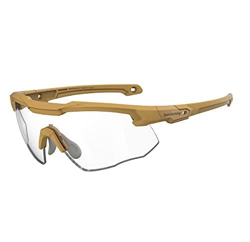 HUNTERSKY Shooting Range Glasses mil-prf-31013 mil-prf-32432 shooter glasses with gun range...