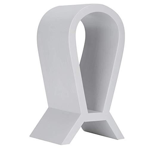 GPWDSN Soporte de Madera para Auriculares Soporte para Pantalla de Auriculares para Juegos Soporte para Auriculares clásico Craft White