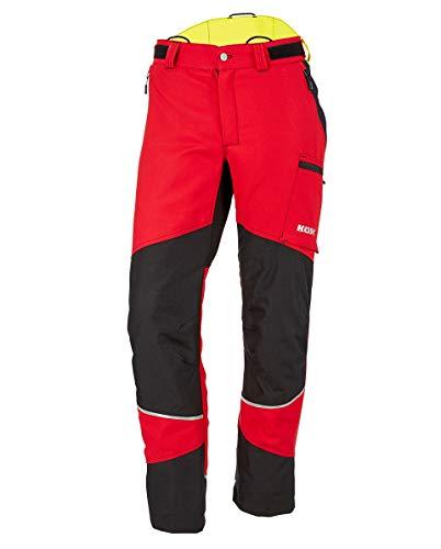 KOX Duro 2.0 Schnittschutzhose, Rot, Größe 25 untersetzt