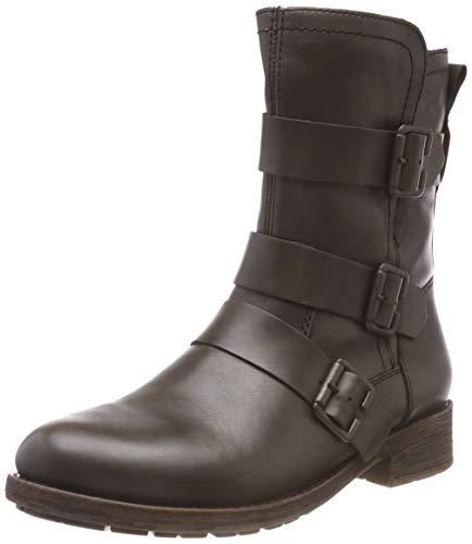 Remonte Damen D8072 Biker Boots, Grau (Ebony 27), 42 EU