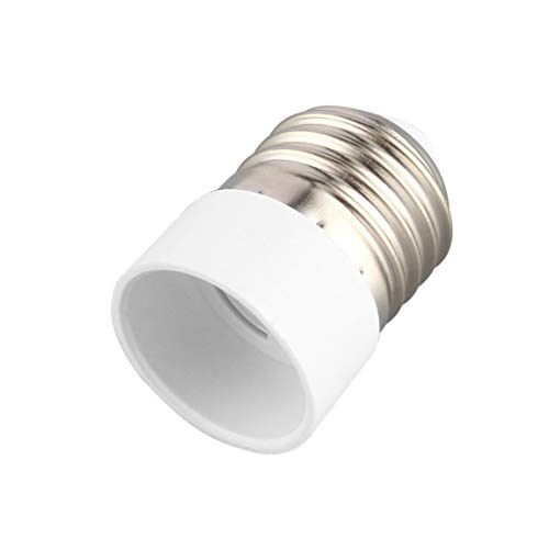 Feuerfestes Material E27 bis E14 Lampenfassung Konverter Langlebige Haushaltsfassung Konvertierung Tragbare Glühlampensockel (Farbe: weiß)
