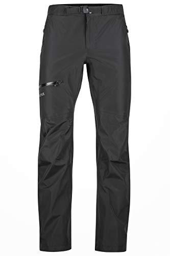 Marmot Herren 31150-001 Hardshell Regenhose, Winddicht, Wasserdicht, Atmungsaktiv, Black, XL