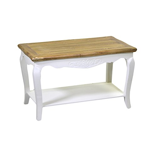 Vacchetti Giuseppe 8032480000 Table Country, rectangulaire, Bois, Blanc, 74,5 x 44.5 x 44.5 cm