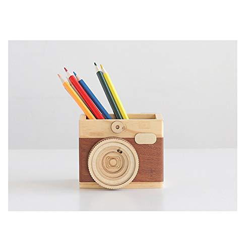 RFVNAC Portapenne per Fotocamera, Scatola di immagazzinaggio, scrivania, cancelleria, Scatola di immagazzinaggio cosmetica Quadrata, Vassoio da scrivania, Fornitore di Scuola