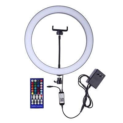 Anillo de luz DIRIGIÓ Cámara de estudio regulable RGB Fotografía de luz de anillo 12 pulgadas de 30 cm de la cámara de la cámara de la cámara con la luz con NOSOTROS Enchufe para el soporte del teléfo