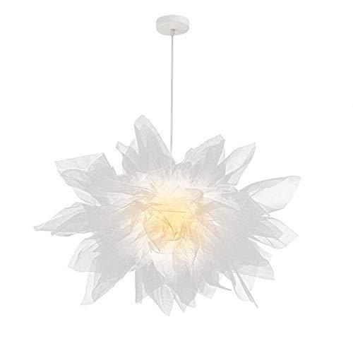 Hanglamp, Moravische stijl, creatief hanglamp, witte veer, lampenkap, droommesh, interieurverlichting, decoratie hanglamp