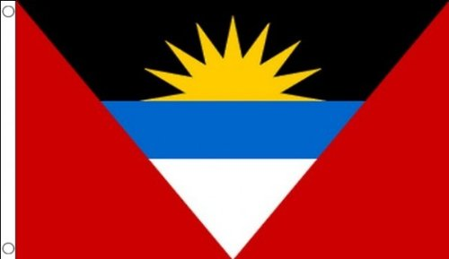 5ft x 3ft (150 x 90 cm) Antigua And Barbuda 100% Polyester Material Flag Banner Ideal For Pub Club School Festival Business Party Decoration by Flag Co