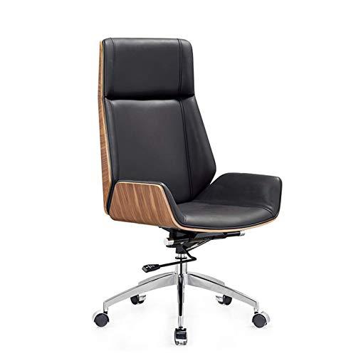 HAOSHUAI Boss Silla Home Office Desk Sillas Sillas Gerenciales, Sillas Ejecutivas Simple Simple Lifting Solid Wood Boss Silla
