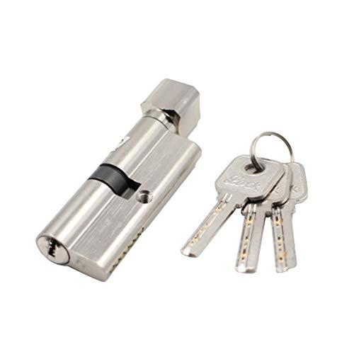 QXYOGO Bombin Cerradura 1set Puerta Cerradura de Cilindro sesgada 70mm antirrobo Entrada Puerta de Puerta de Metal con 3 Llaves de Seguridad de Seguridad Interior Dormitorio Cerradura 5 (Color : 2)