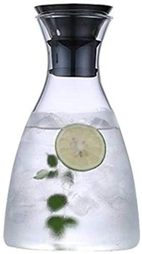Tetera Tetera litro jarra con la tapa de cristal Jug - 100% BPA vino Divisor té helado hervidor de agua con tapa de vidrio Jarra de limonada / Bebida fría / hielo Dispensador de agua ( Size : 1600ml )