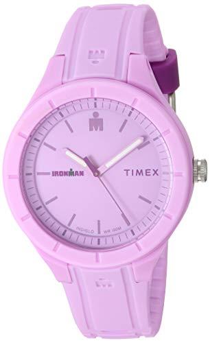 Timex TW5M17300 Ironman Essential Urban Analog 38mm Light Purple Purple Silicone Strap Watch
