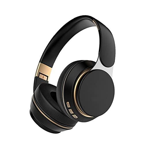 YepYes Ear Auriculares Bluetooth Auriculares de Juego inalámbricos a través de Auriculares Ajustable T7 con el Mic para el teléfono de la PC TV Negro