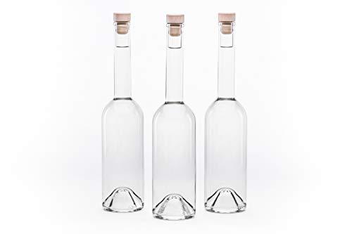 Casavetro Bottigliette Vetro Con Tappo Sughero - 350 ml - Bottiglia Vuota in Vetro per Vino, Liquore, Acqua, Succo di Frutta, Conserve, Latte, Olio, Birra, Vino, Estratti, Amari (12 x 350 ml)