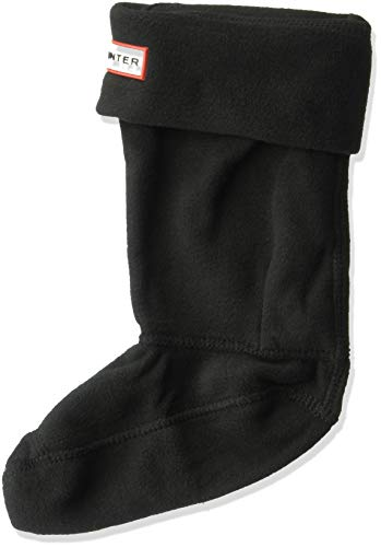 Hunter Kids Wellington Fleece Boot Socks in Various Colours Small Black