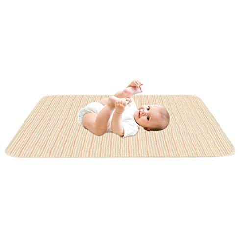 De feuilles Baby Matratzenschoner Saugfähig Wickelunterlage für Kinder Wasserdicht Matte Atmungsaktiv Matratzenauflage Inkontinenzauflage