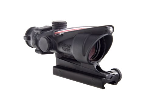Trijicon ACOG 4 X 32 Scope Dual Illuminated Horseshoe Dot .223 Ballistic Reticle, Red