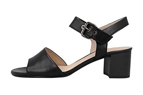 Gabor Comfort Fashion Sandaletten in Übergrößen Schwarz 22.920.57 große Damenschuhe, Größe:42