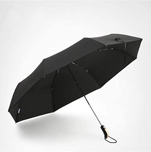 Paraguas a prueba de viento a prueba de viento paraguas masculino grande plegable paraguas hembra doble negocio coche paraguas parasol-negro paraguas a prueba de viento hermosa luz ligero más resisten