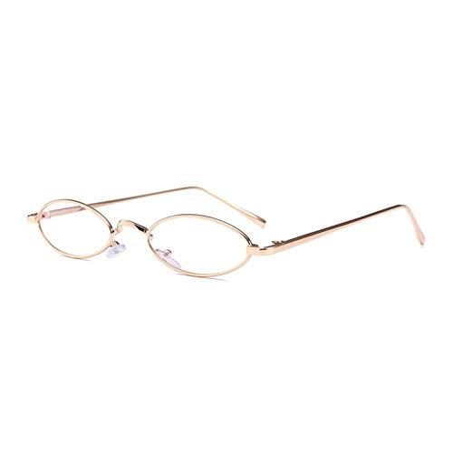 YIERJIU Gafas de Sol Gafas de Sol pequeñas Moda piloto Ovalado Gafas de Sol con Montura de Metal de Lente Transparente Retro Negro Rosa para Hombres Mujeres Nuevo,C