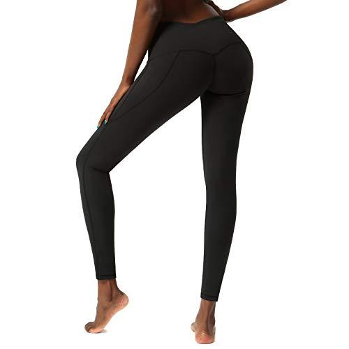 SKYSPER Leggings Yoga, Leggins Sportivi Donna Vita Alta con Tasche Pantaloni da Allenamento Senza Cuciture per Fitness Corsa Palestra Pilates