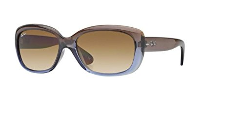 Ray-Ban RB4101 JACKIE OHH Sunglasses For Women, Brown Gradient Lilac/Crystal Chocolate Gradient, 58 mm Crystal Brown Gradient Sunglasses