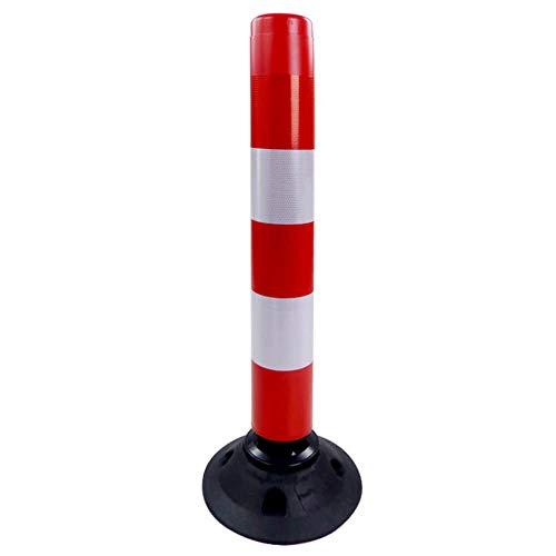 TMS PRO SHOP Verkehrs-Leitzylinder FLEX, neigbar, rot/weiß reflektierend, 100 cm aus Kunststoff