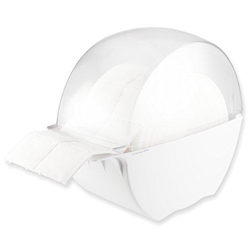 Designer Zelettenbox weiss/transparent gefüllt mit 500 St. weissen Zelletten