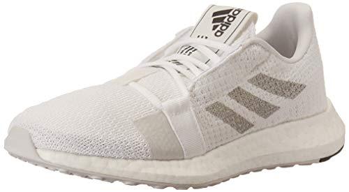 adidas Women's SenseBOOST GO Running Shoe, White/Grey/Black, 7.5 M US