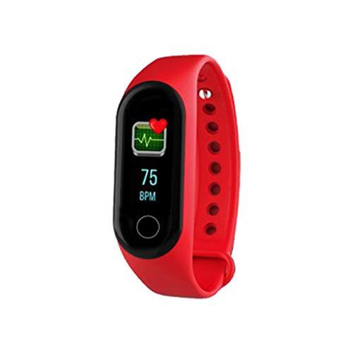 M4 Pantalla Colorida Pulsera Inteligente Salud Multi-Deportes Reloj de sueño Saludable Rojo