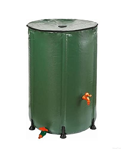RAMP Wasserfass 1000 Liter, Faltbarer Wassertank für Regenwassersammlung, Regentonne mit mit Hahn, Abdeckplane, Regentonne Frostsiche, UV Beständig, Wasserfass aus robustem Kunststoff (1000 L)