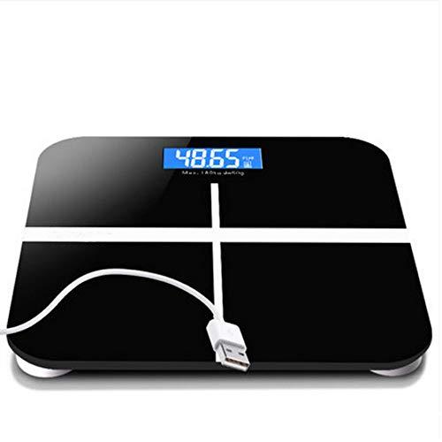 Básculas electrónicas USB, básculas de peso recargables, Básculas de prueba de salud para adultos en el hogar, báscula de peso precisa, contador de pérdida de peso