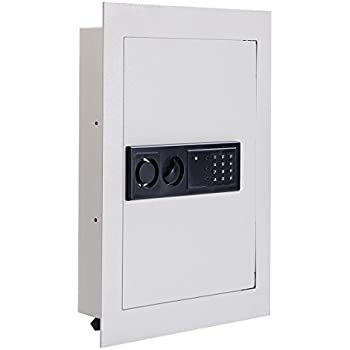 Stash Safe Giantex Electronic Wall Hidden Safe Security Box,.83 CF Built-In Wall Electronic Flat Security Safety Cabinet