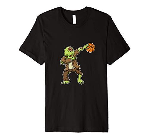 Dabbing Zombie Basketball Funny Halloween Costume Premium T-Shirt