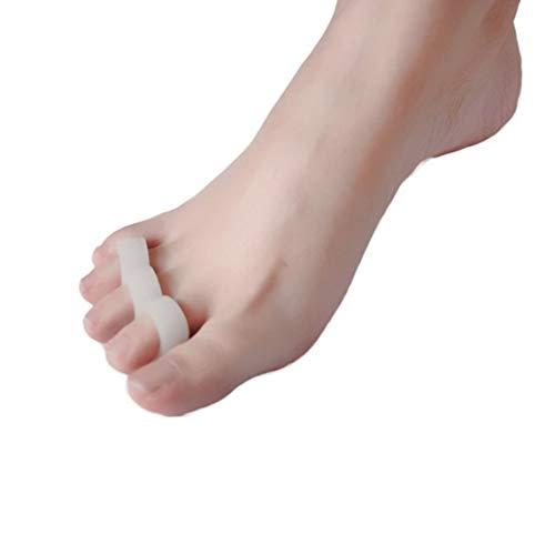 Footprintes 2pcs Gel Separadores de dedos Camillas Alineación Dedos superpuestos Ortopedia y Martillo Dedos Ortopédicos Cojín Pies Cuidado zapatos Plantillas