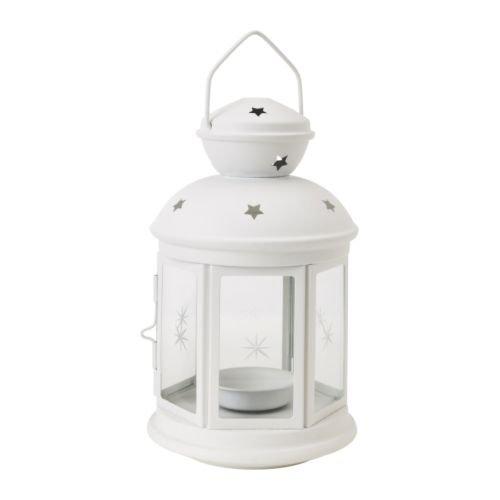 IKEA - ROTERA Lantern For Tealight, White (FBA)