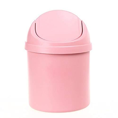 Pouitt Cubo de la Basura de los hogares de Escritorio Cesta de Basura Bote de Basura for la Tabla de Ministerio del Interior de Basura Herramientas cesto de Limpieza 2 (Color : Pink)