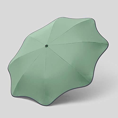 ASDMRQ paraguas, paraguas plegable automático curvo, paraguas de protección solar para hombres y mujeres, paraguas de diseño simple de viaje plegable paraguas