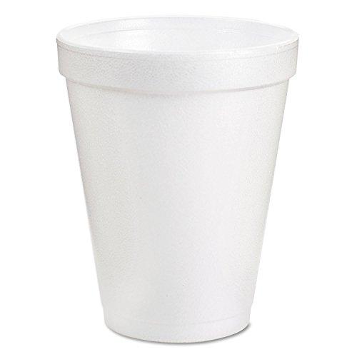 DART 8J8 Insulated Styrofoam Cup, 8 Oz, 1000/CT, White, 8 Ounce