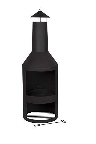 BBQ Collection terrashaard - inclusief pook - 134x44,5x44,5cm - met schoorsteenelement - uitneembare vuurkorf
